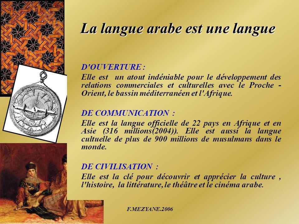 La langue arabe est une langue