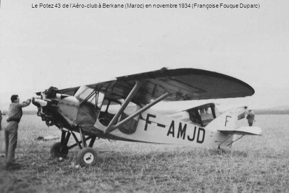 Le Potez 43 de l'Aéro-club à Berkane (Maroc) en novembre 1934 (Françoise Fouque Duparc)