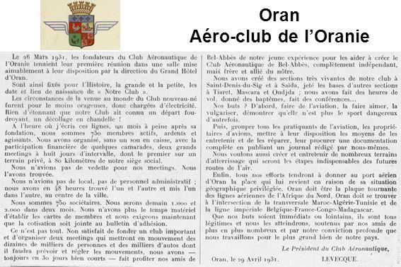 Oran Aéro-club de l'Oranie