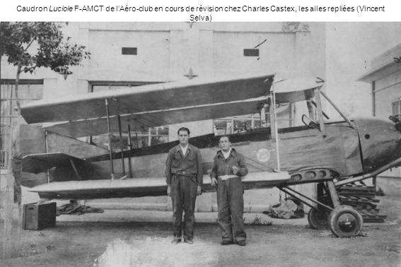 Caudron Luciole F-AMCT de l'Aéro-club en cours de révision chez Charles Castex, les ailes repliées (Vincent Selva)