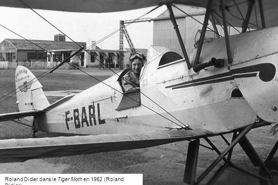Roland Didier dans le Tiger Moth en 1952 (Roland Didier)