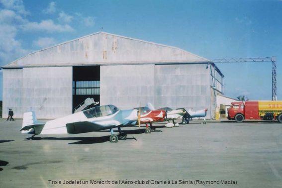 Trois Jodel et un Norécrin de l'Aéro-club d'Oranie à La Sénia (Raymond Macia)