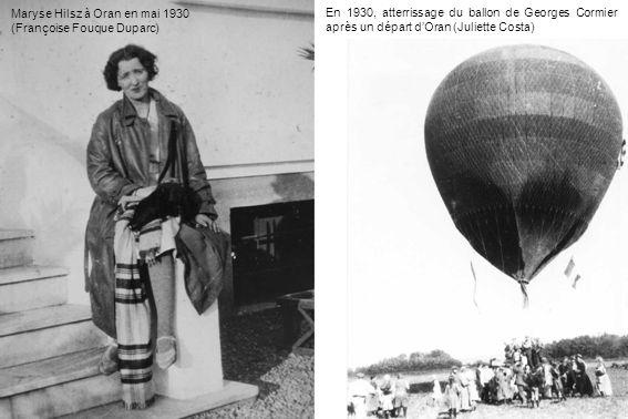 Maryse Hilsz à Oran en mai 1930