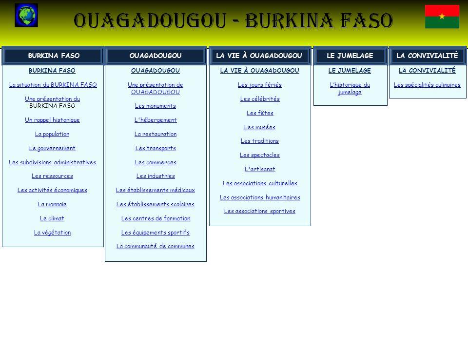 BURKINA FASO OUAGADOUGOU LA VIE À OUAGADOUGOU LE JUMELAGE