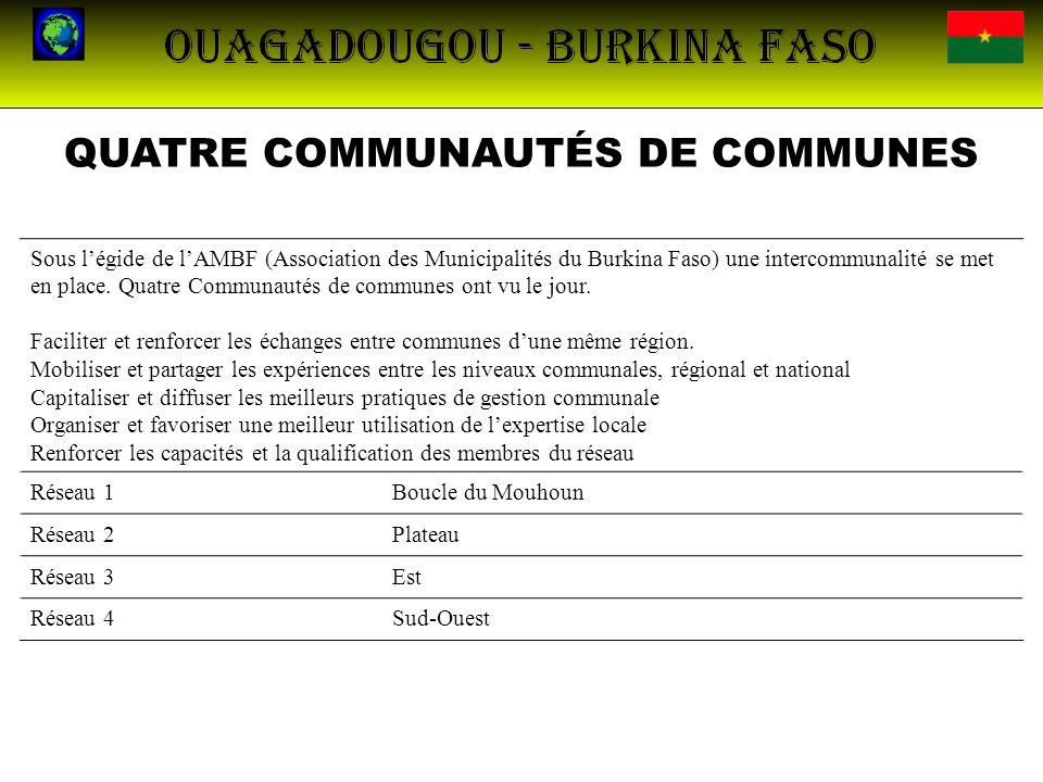 QUATRE COMMUNAUTÉS DE COMMUNES