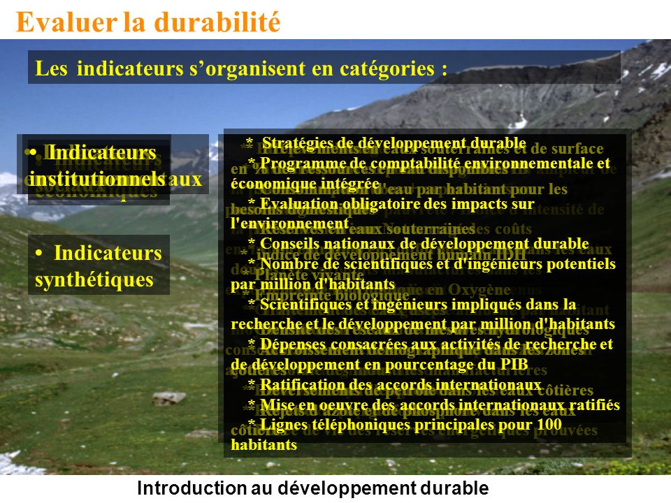 Introduction au développement durable
