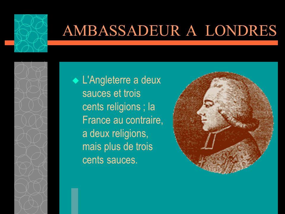 AMBASSADEUR A LONDRES