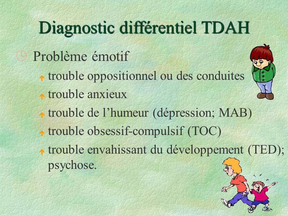 Diagnostic différentiel TDAH