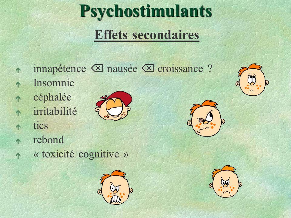 Psychostimulants Effets secondaires