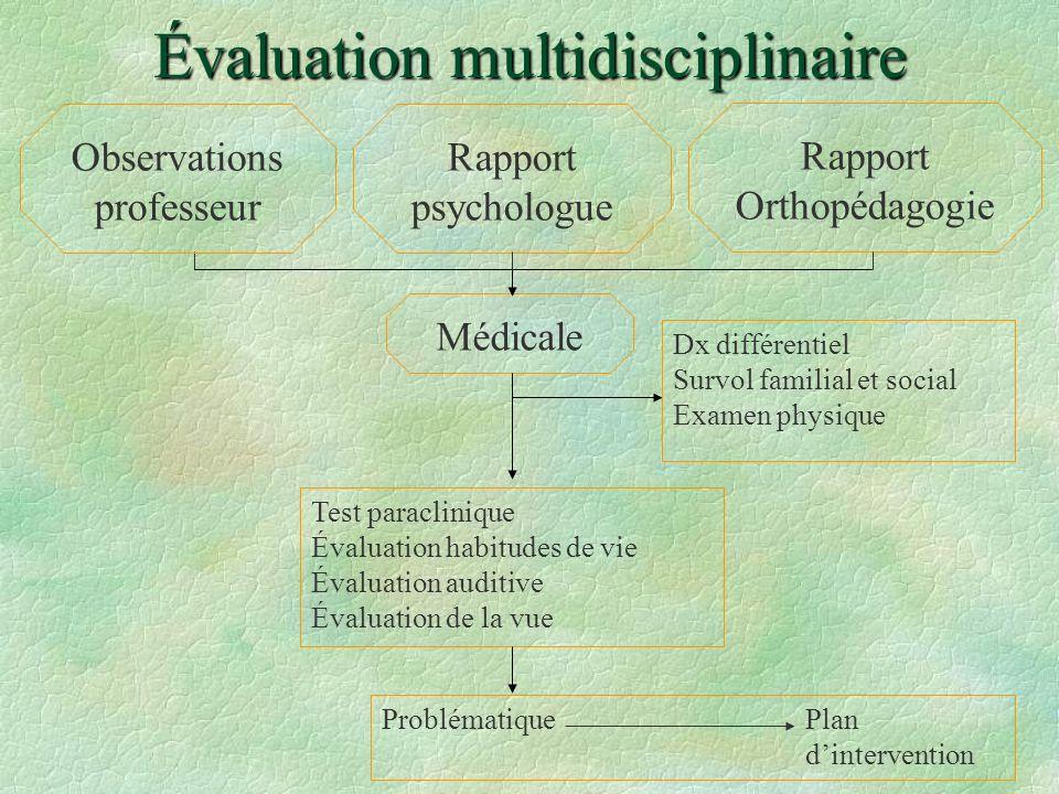 Évaluation multidisciplinaire