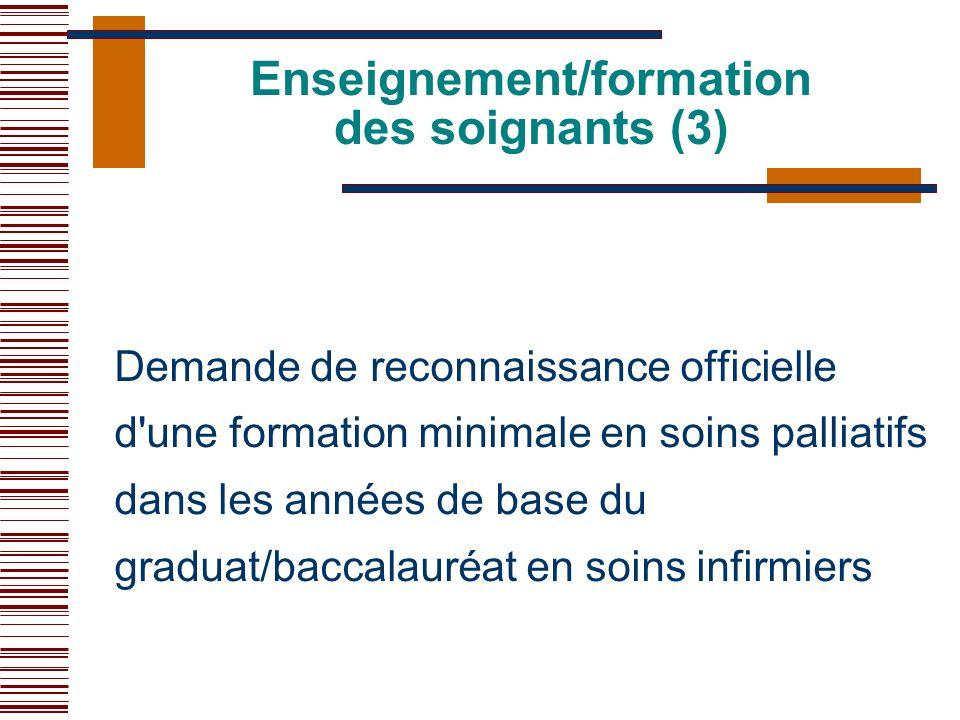 Enseignement/formation des soignants (3)