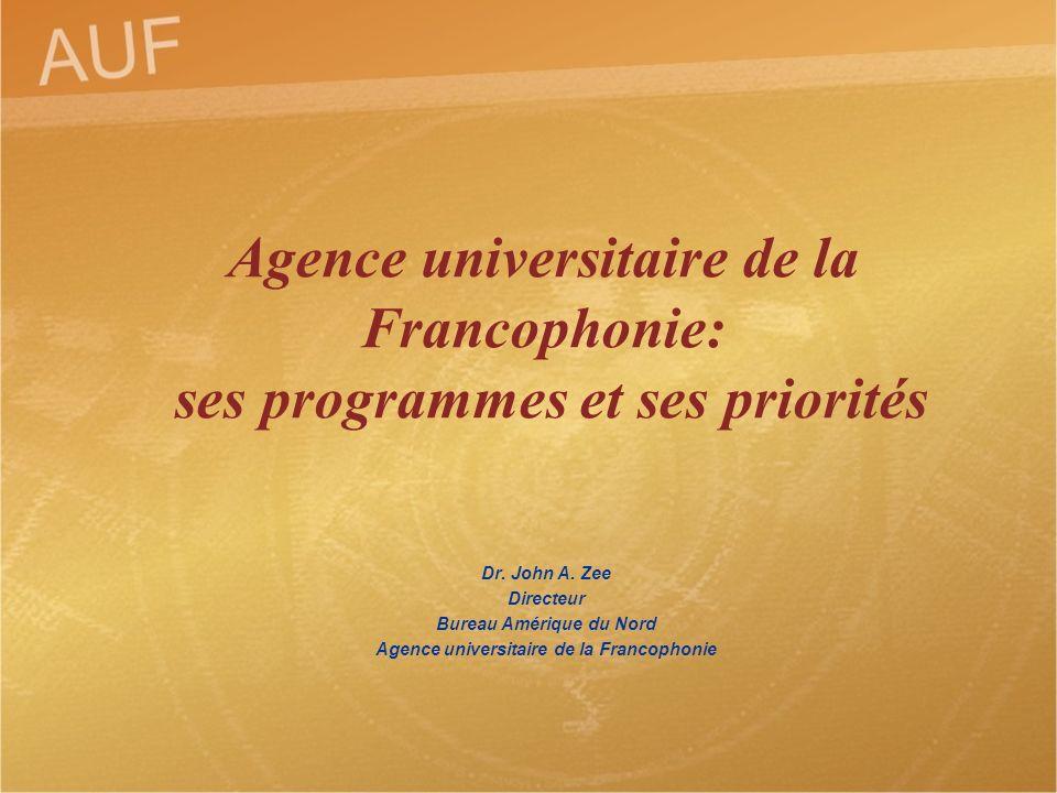 Bureau Amérique du Nord Agence universitaire de la Francophonie