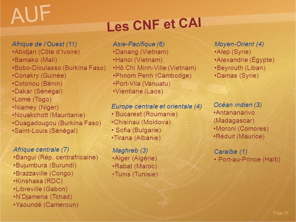 Les CNF et CAI Asie-Pacifique (6) Danang (Vietnam) Hanoi (Vietnam)