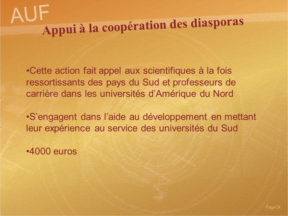 Appui à la coopération des diasporas