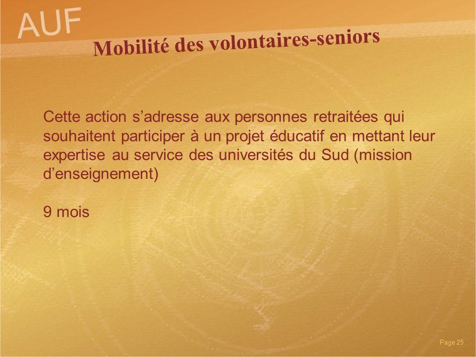 Mobilité des volontaires-seniors