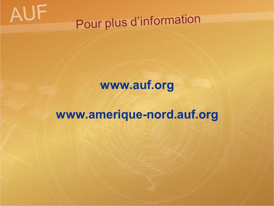 www.auf.org www.amerique-nord.auf.org