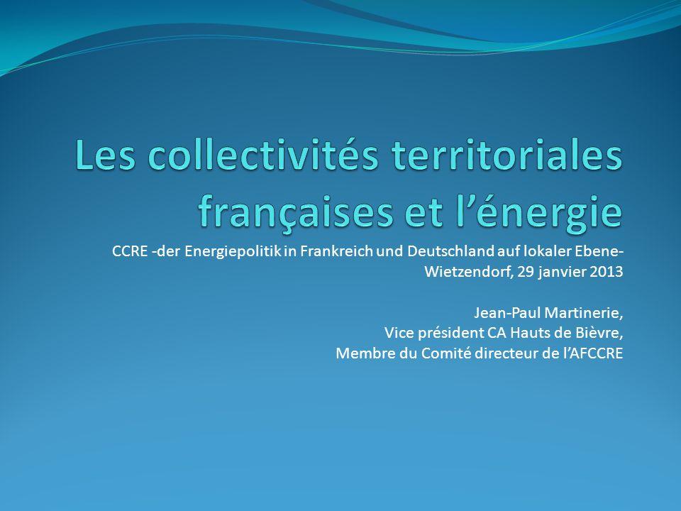 Les collectivités territoriales françaises et l'énergie
