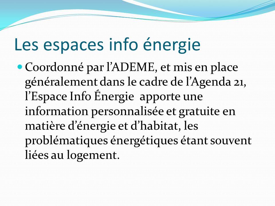 Les espaces info énergie