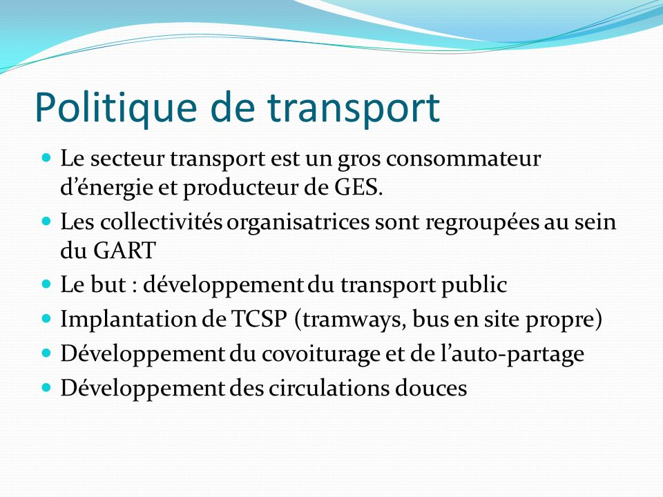 Politique de transport