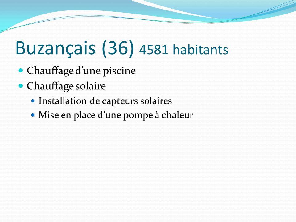 Buzançais (36) 4581 habitants