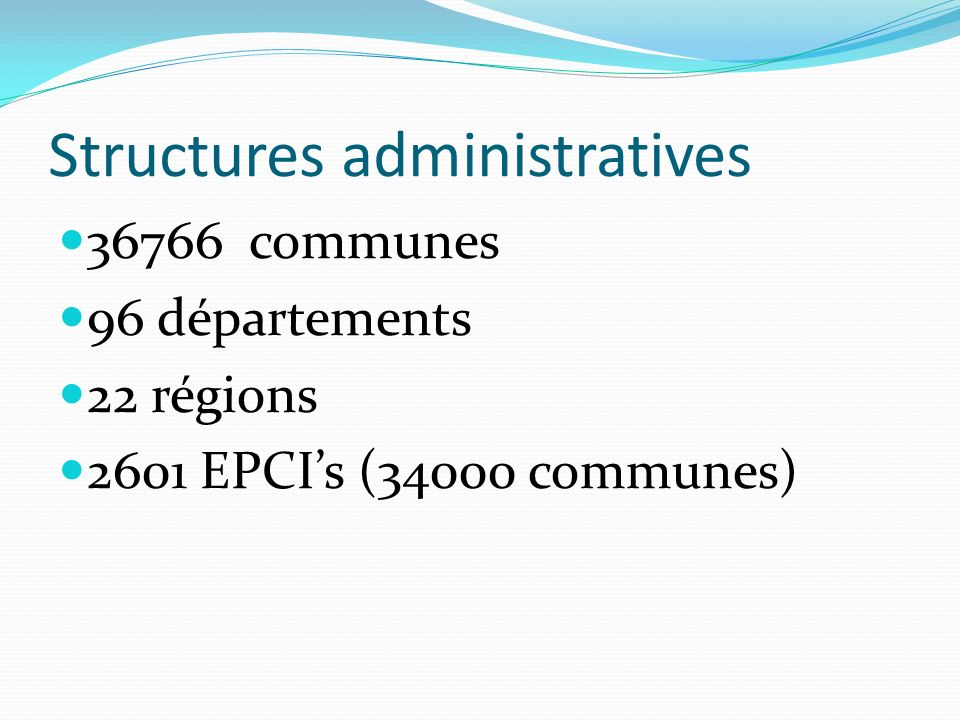 Structures administratives
