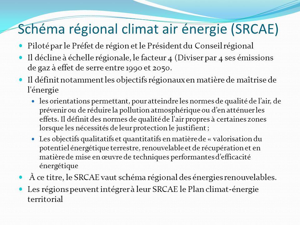 Schéma régional climat air énergie (SRCAE)