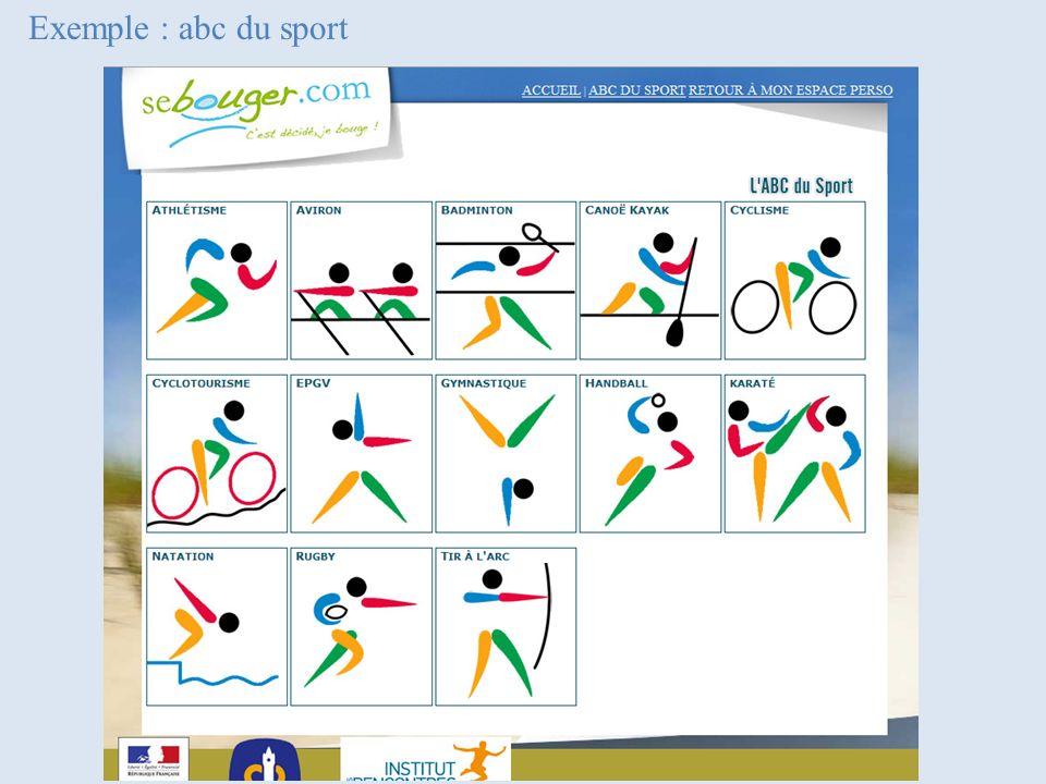 Exemple : abc du sport