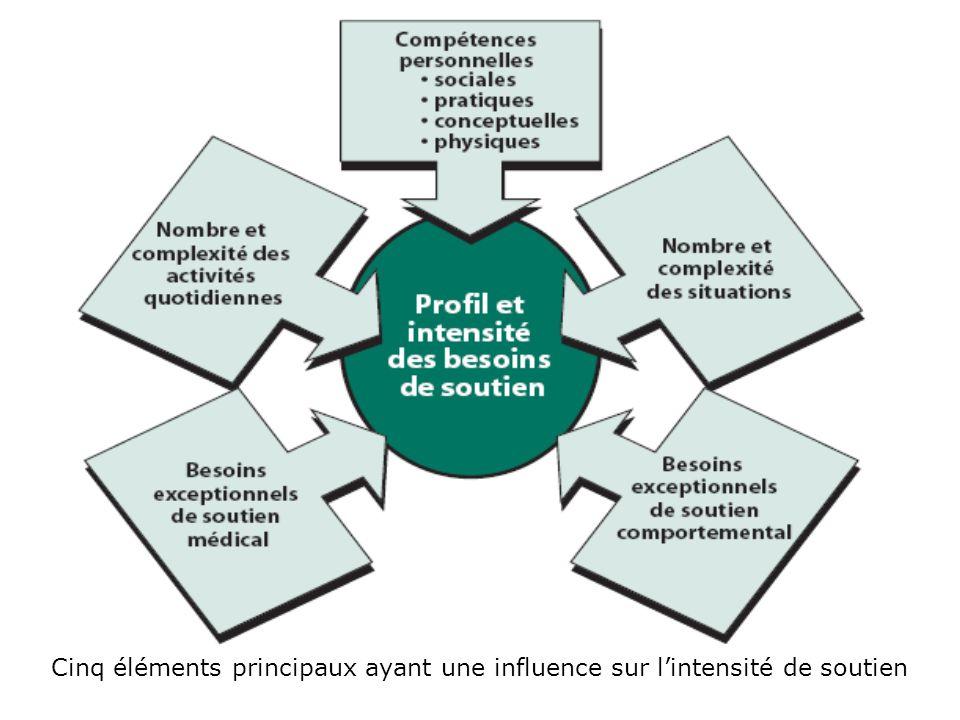 Cinq éléments principaux ayant une influence sur l'intensité de soutien