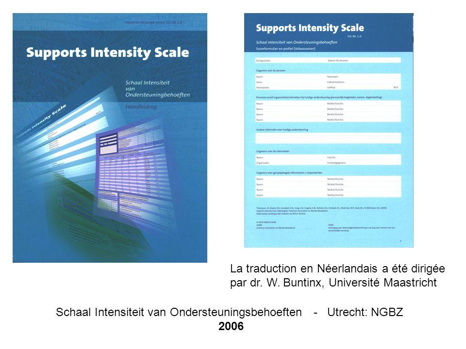 Schaal Intensiteit van Ondersteuningsbehoeften - Utrecht: NGBZ