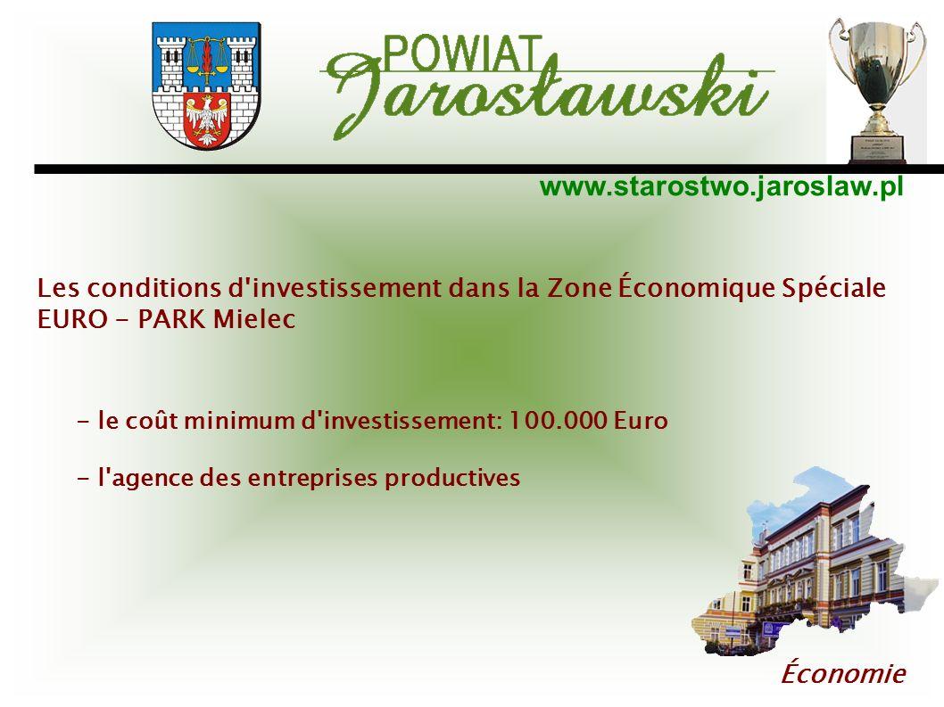Les conditions d investissement dans la Zone Économique Spéciale