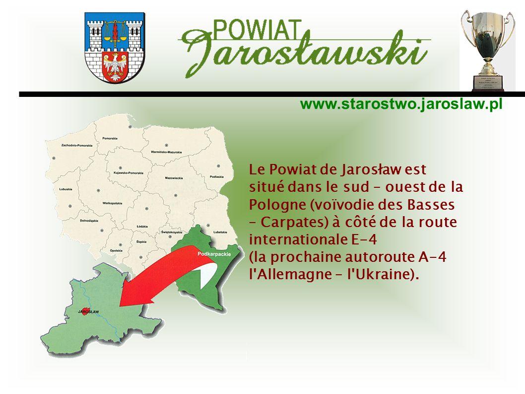 Le Powiat de Jarosław est situé dans le sud – ouest de la Pologne (voïvodie des Basses – Carpates) à côté de la route internationale E-4