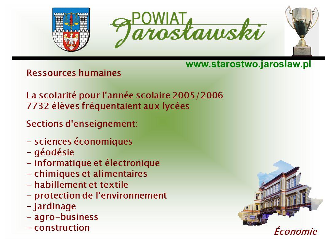 Ressources humaines La scolarité pour l année scolaire 2005/2006. 7732 élèves fréquentaient aux lycées.