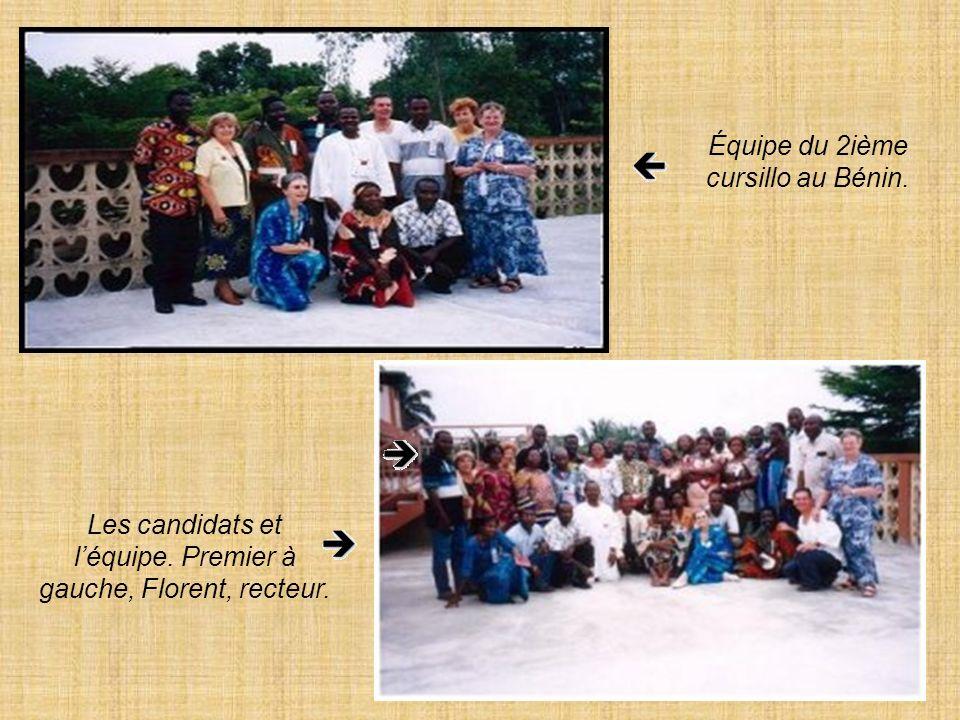 Équipe du 2ième cursillo au Bénin.