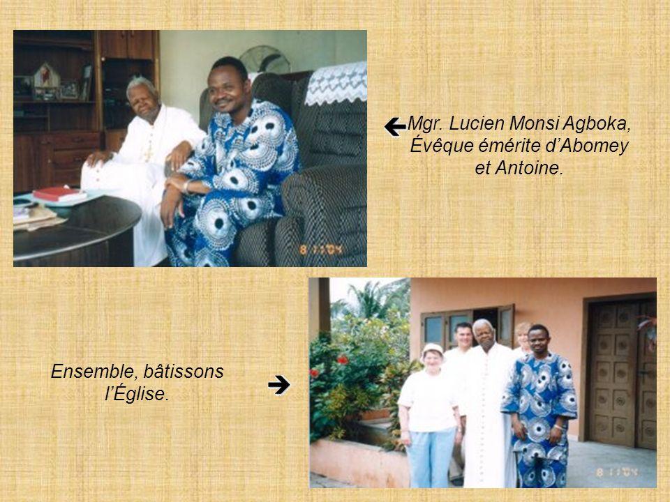 Mgr. Lucien Monsi Agboka, Évêque émérite d'Abomey et Antoine.