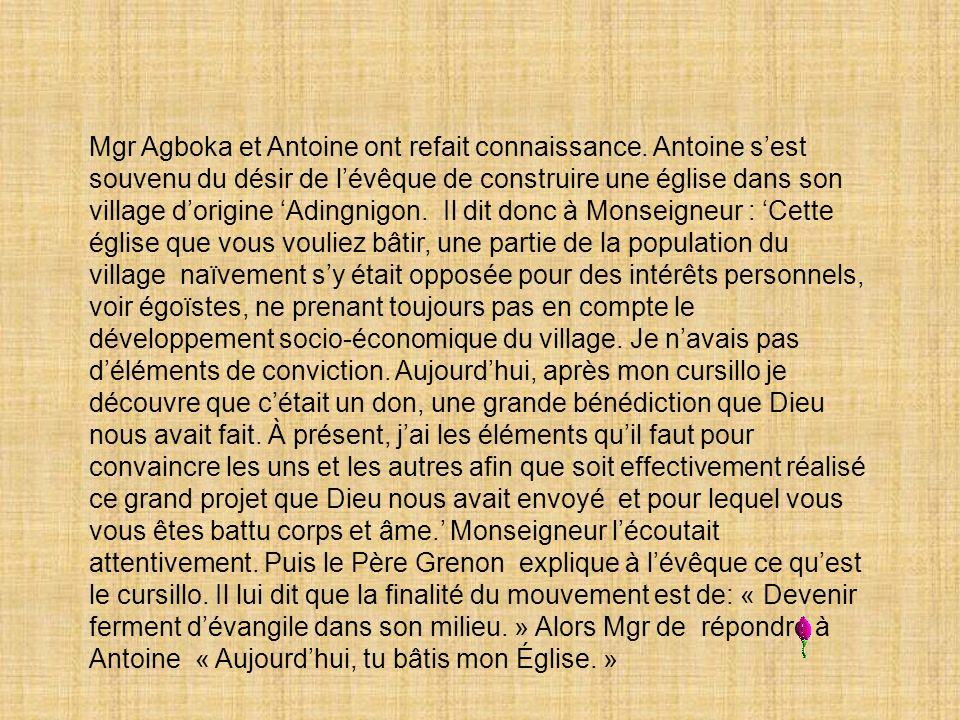 Mgr Agboka et Antoine ont refait connaissance