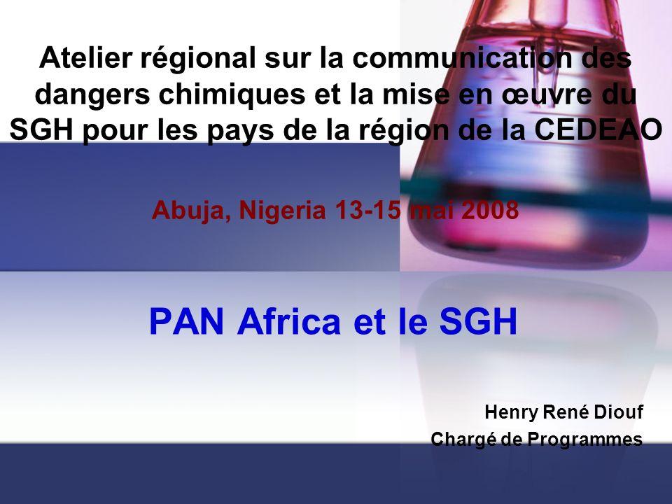 PAN Africa et le SGH Henry René Diouf Chargé de Programmes