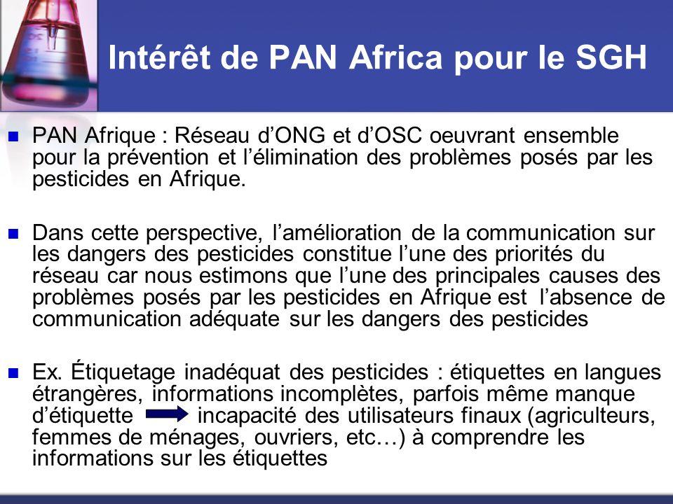 Intérêt de PAN Africa pour le SGH