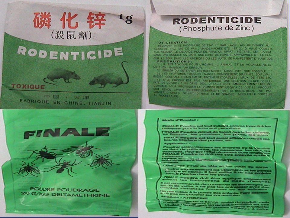 Exemples d'étiquettes fréquemment trouvées dans le marché