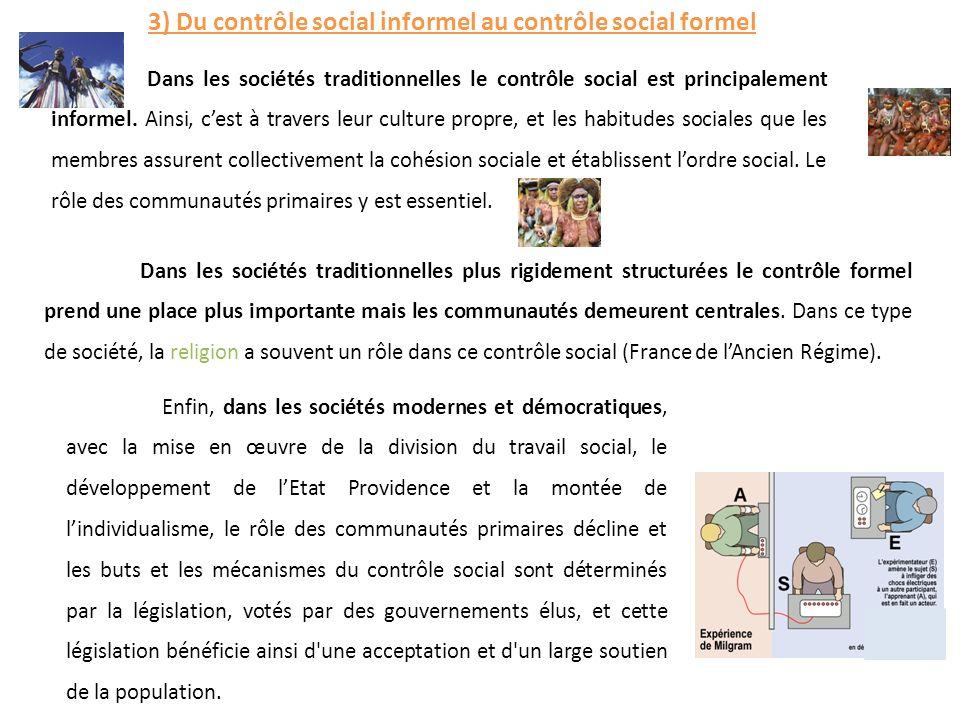 3) Du contrôle social informel au contrôle social formel