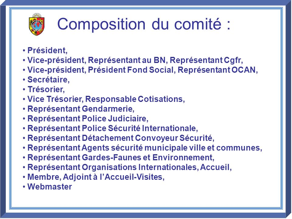 Composition du comité :