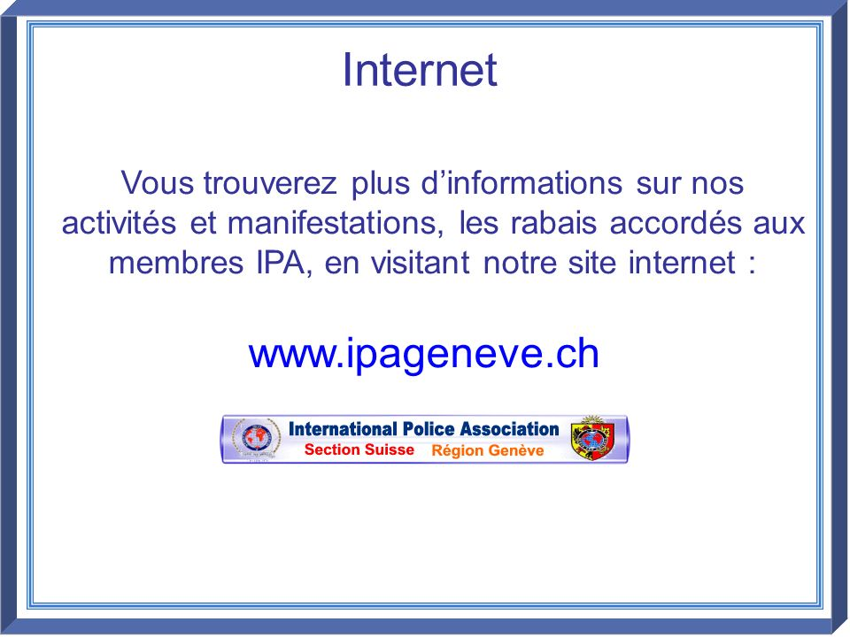 Internet www.ipageneve.ch