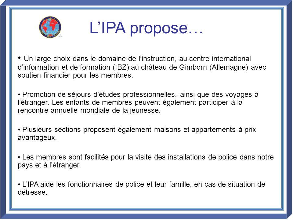 L'IPA propose…