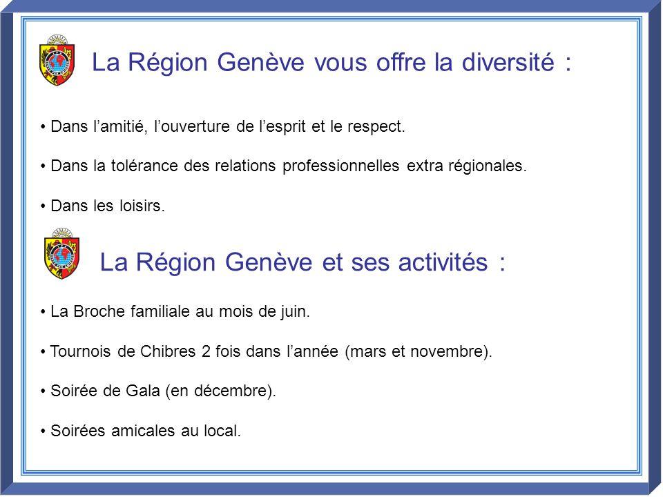 La Région Genève vous offre la diversité :