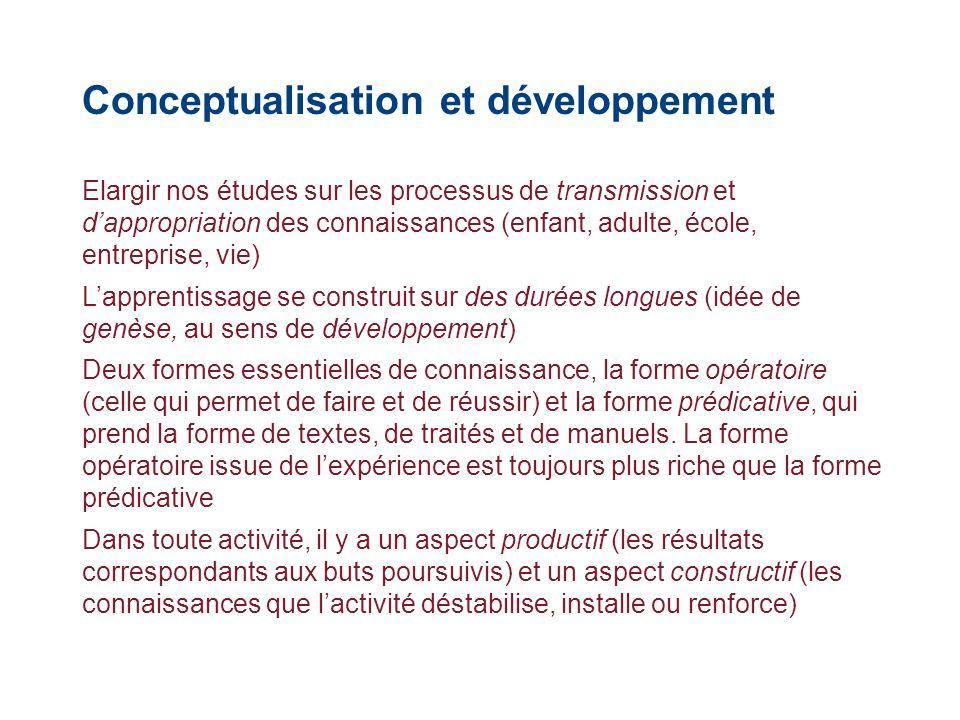 Conceptualisation et développement