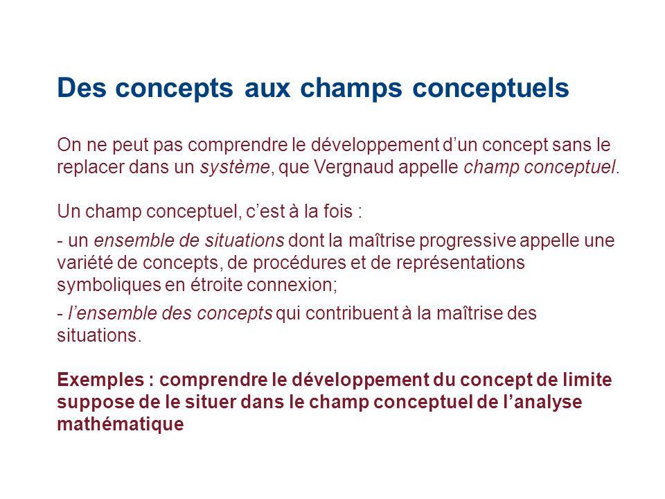 Des concepts aux champs conceptuels