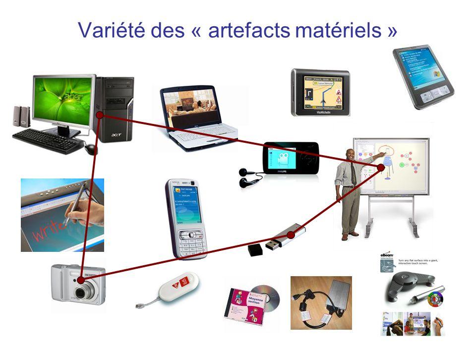 Variété des « artefacts matériels »