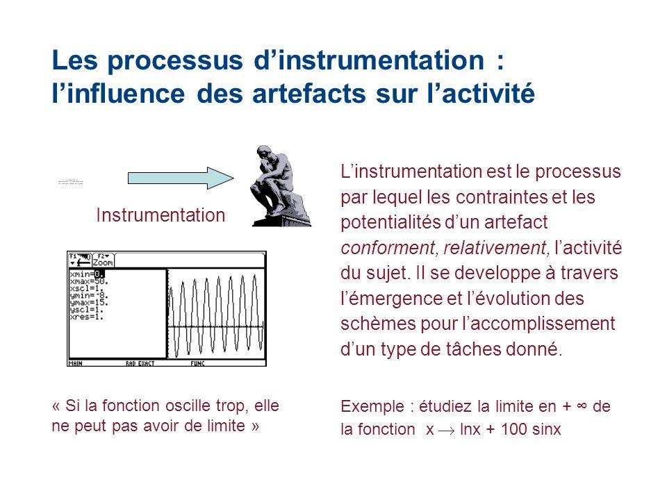 Les processus d'instrumentation : l'influence des artefacts sur l'activité
