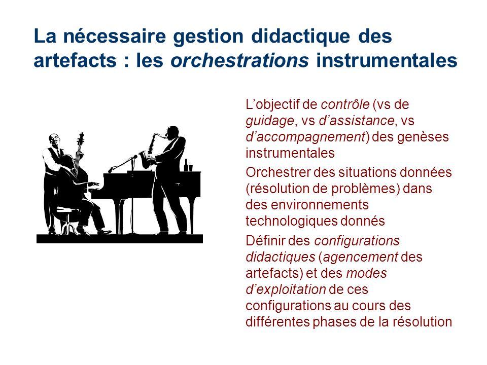 La nécessaire gestion didactique des artefacts : les orchestrations instrumentales