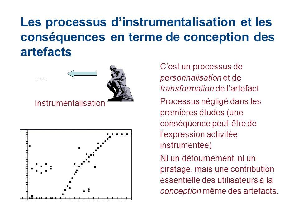 Les processus d'instrumentalisation et les conséquences en terme de conception des artefacts