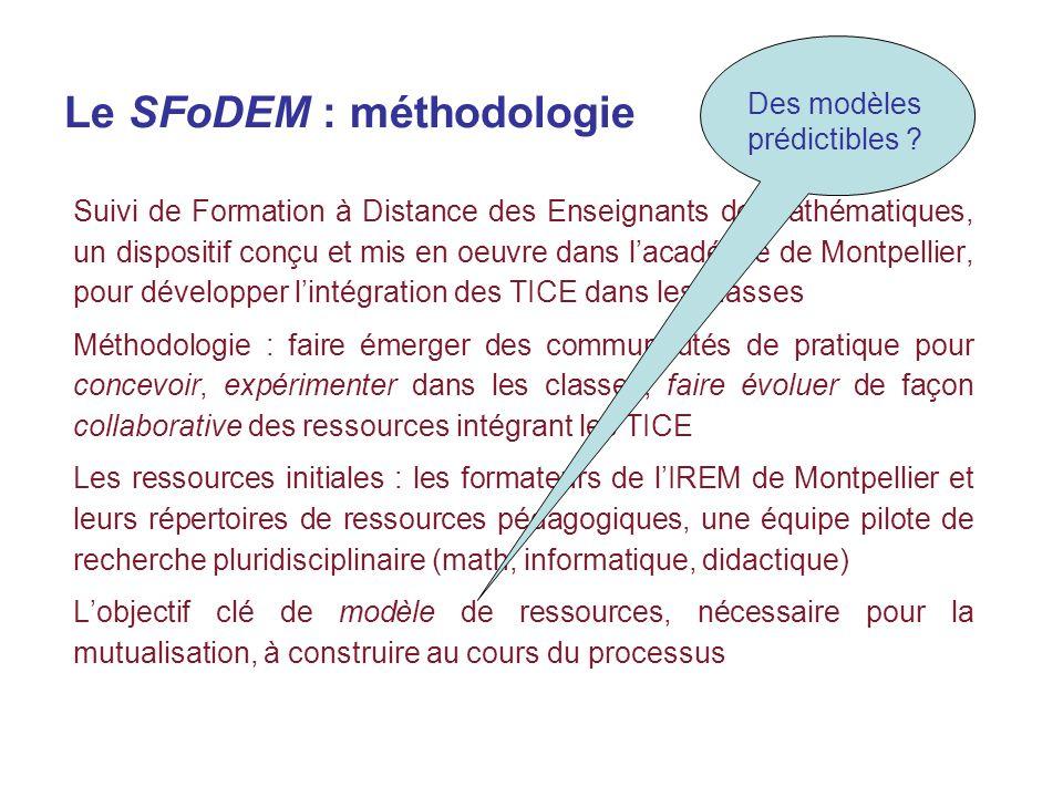 Le SFoDEM : méthodologie